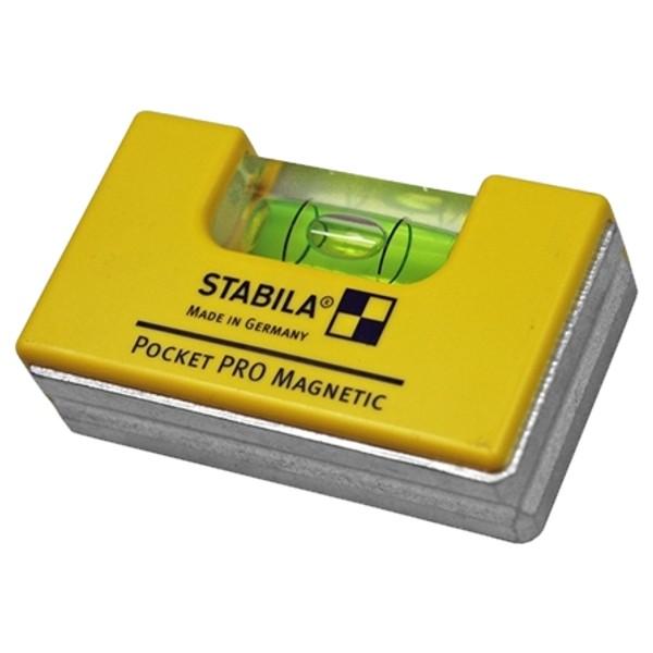 STABILA 17768 - Vodováha Pocket PRO Magnetic, s extra silným magnetem a  garancí pravého úhlu